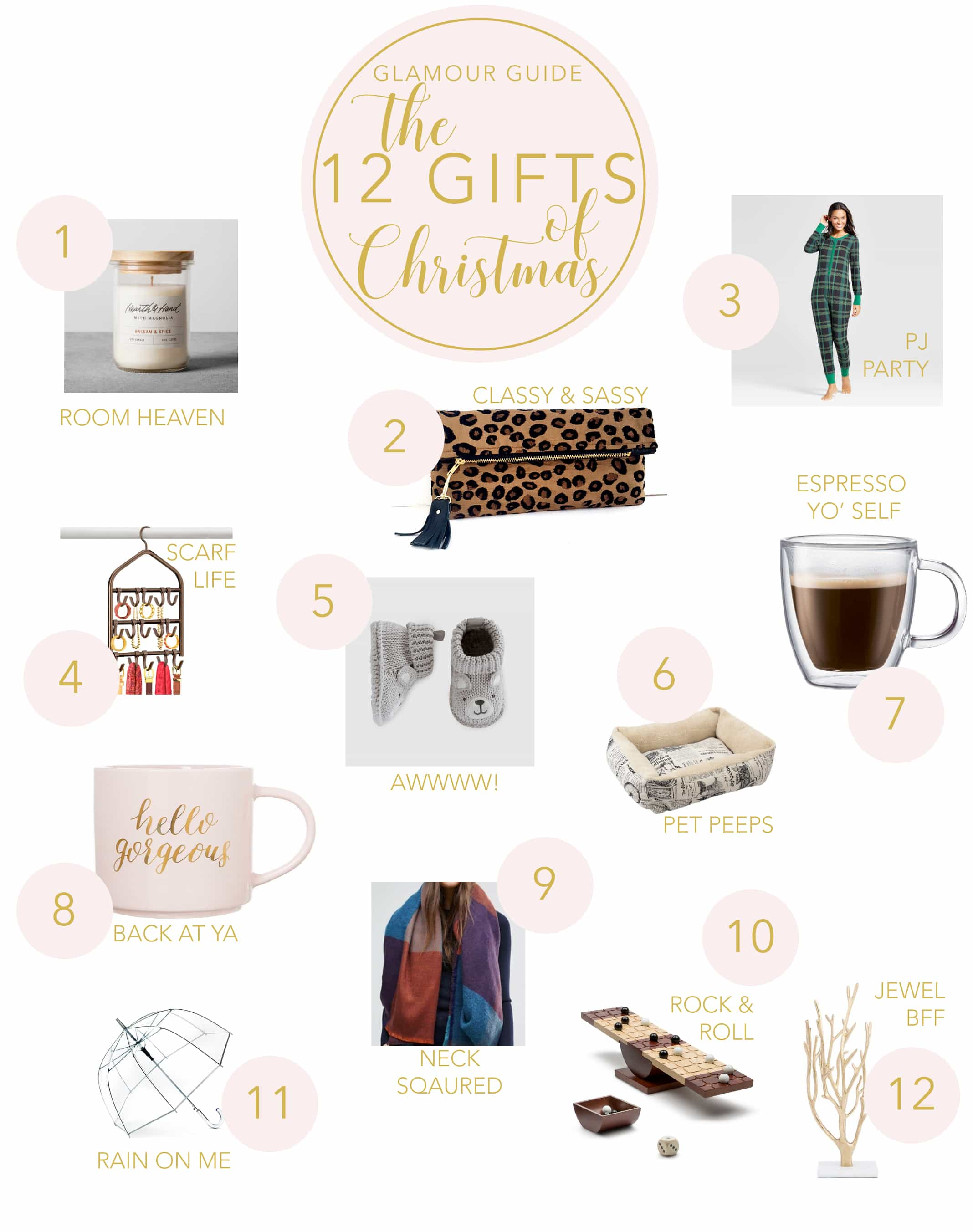 Glamour Guide   12 Gifts of Christmas