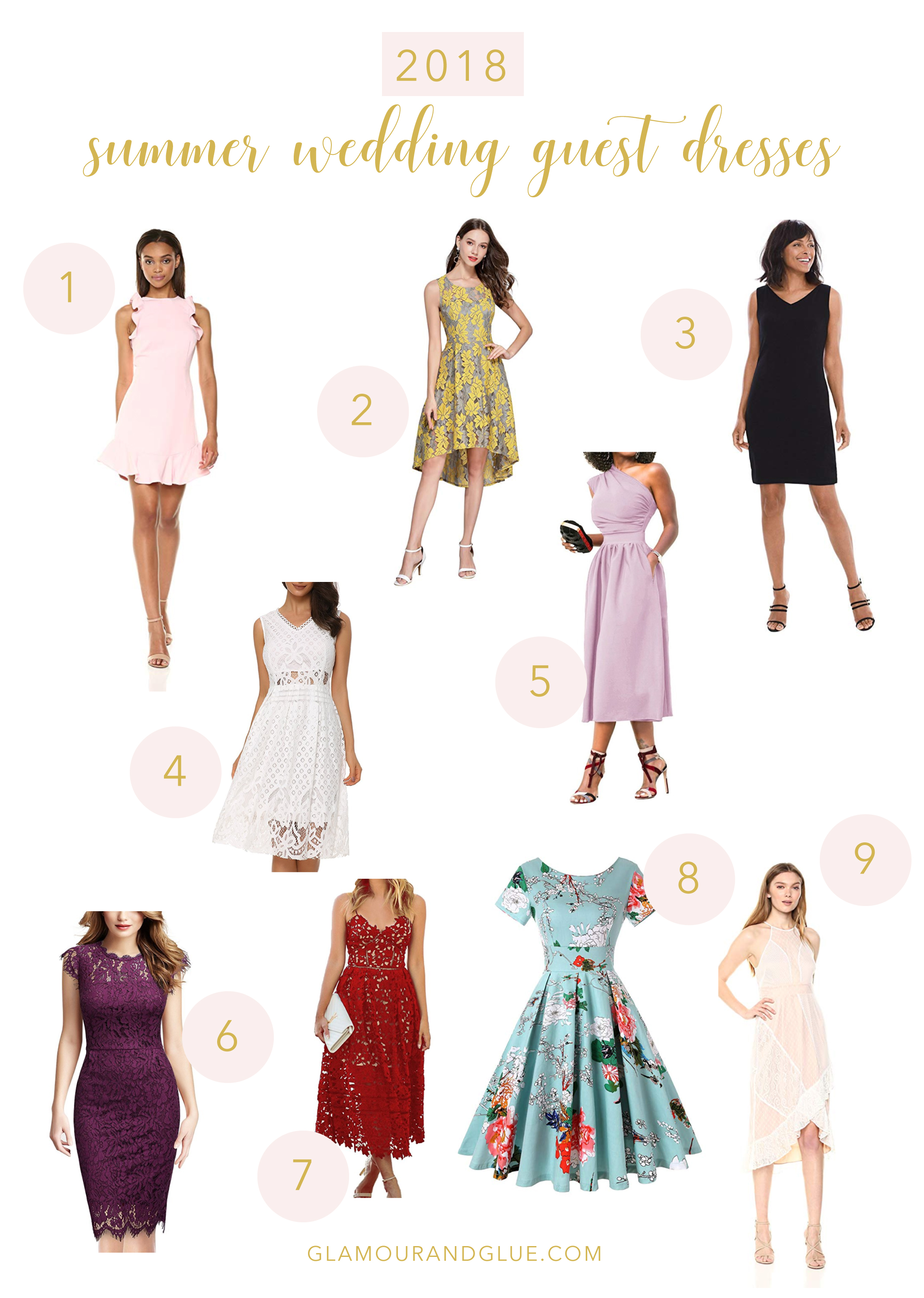 Summer Wedding Guest Dresses Glamourandglue